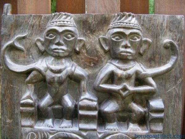 NIAS TRIBESMAN WINDOW PANEL PAIR Home Cafe & Hotel Interior CARVED Plank Slat