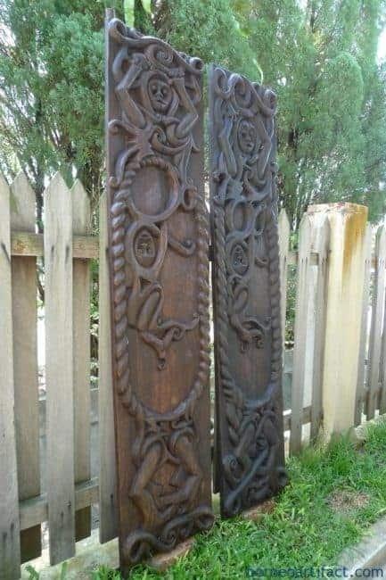 TRIBALPANEL(PAIR)DAYAKASIAHomeGardenWallSculpturePaintingArtDoor