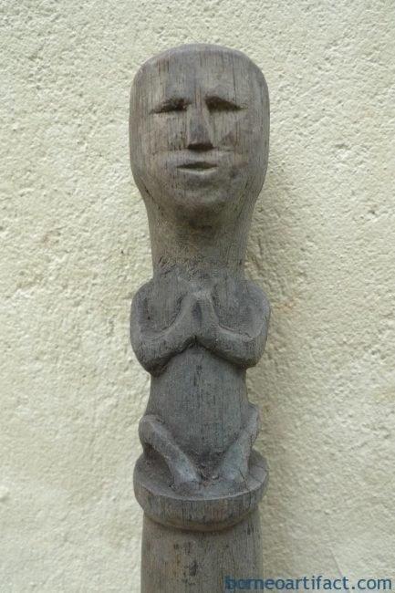 TONGKATRAJAmmCHIEFTANPOLEStickEldersDayakFigureStatueSculpture