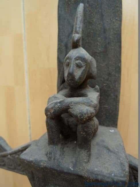 LETIALTARmm(ONEPAIR)WORSHIPANCESTRALSTATUEGODArtifactSculptureBali