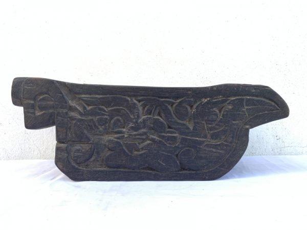 BORNEO IRONWOOD ARTIFACT 14 lb XXXL ANTIQUE MEDICINE TRAY Traditional Pounder Dayak Tribe Tribal