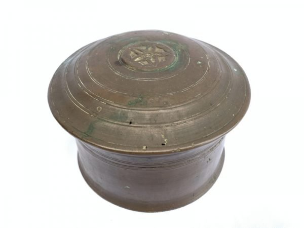 ANTIQUE COIN BOX JEWELRY /  / GOLD / BETEL NUT Container Bunker Storage Borneo