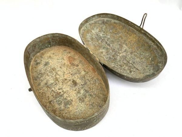 ANTIQUE 19th Century JEWELLERY BOX / Coin / Gold / Betel Nut / Areca Palm / Watch / Jewel Container Storage Borneo