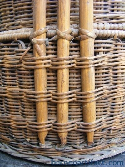 Old Chinese WEDDING BASKET Woven From Rattan Traditional Asia Asian Malaysia
