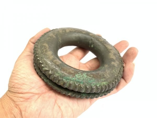 #1 SOLID BRONZE Jewelry BRACELET Authentic Antique Dayak Girl Bangle Ornament