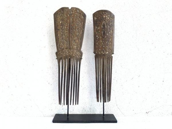 #3 TANIMBAR HAIRPIN 290mm On Stand Old Headdress Crown Comb Jewel Jewelry