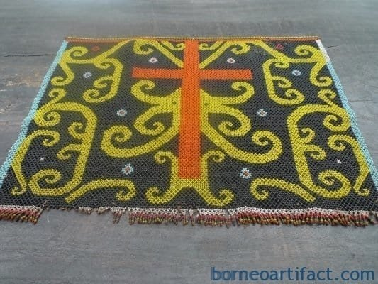 MICRO BEADS DAYAK PANEL Old Beaded Artifact Art Artist Painting Craft Borneo