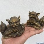FENG SHUI (One Pair) SHI SHI FU FOO DOG Chinese Guardian Lions Office Paperweight