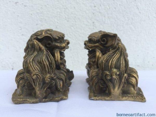FENG SHUI (One Pair) SHI SHI FU FOO DOG Chinese Guardian Lions Office Paperweight