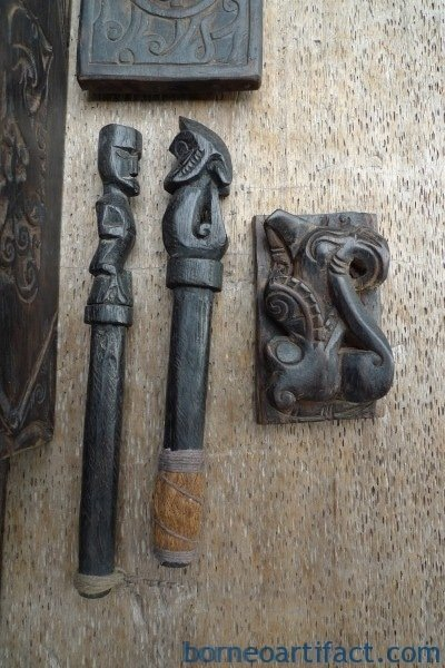 LARGE NATIVE TATTOO KIT SET Mallet Body Piercing Borneo Headhunter DAYAK SYMBOL