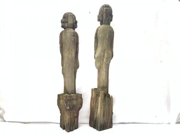 RARE ERODED GUARDIAN STATUE Dayak Kebahan Antique Artifact Figure Icon Sculpture