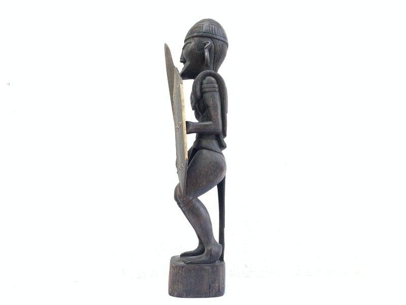 GIANTSTATUEmmDAYAKWARRIORSculptureArtifactImageIconBorneoHeadhunter