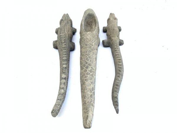 WORM TONGUE ANTEATER CROCODILE STATUE Spiritual Guardian Wooden Animal Sculpture Art