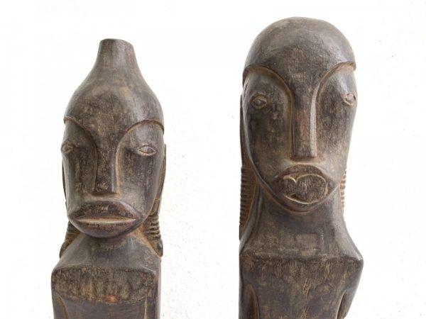 FEMALE TOBA BATAK 540mm NORTH SUMATRA Pregnant Statue Ancestral Facial Image HARDWOOD