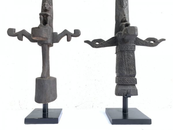 LETI ALTAR 680mm (ONE PAIR) WORSHIP ANCESTRAL STATUE GOD Artifact Sculpture Bali
