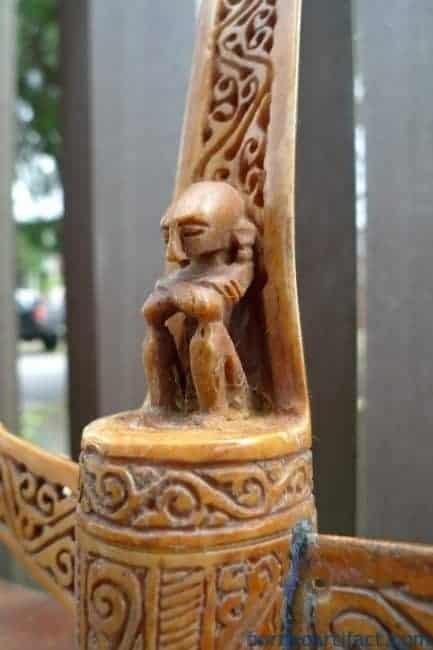 ~PAIRBONEALTAR~mmTANIMBARRAJALETISculptureStatueFigureBaliBorneo