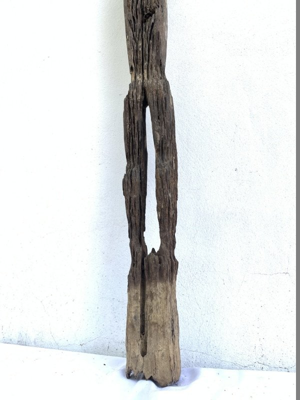 ERODED GUARDIAN 1190mm DAYAK STATUE Patung Kebahan Sculpture Primitive Figure