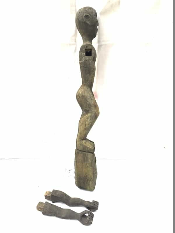 ANTIQUE DAYAK 860mm bahau sculpture Patung Dyak Primitive Figure Sculpture Borneo