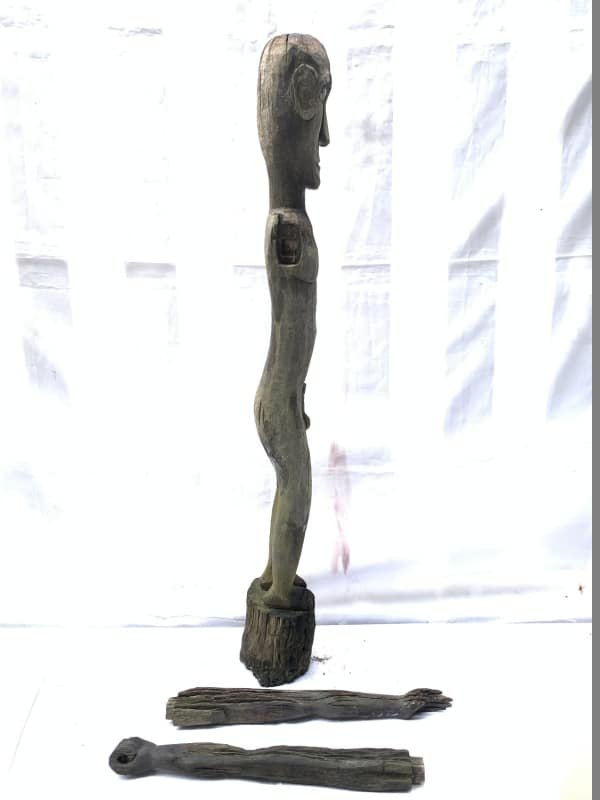 DAYAK BAHAU 940mm PENIS FERTILITY STATUE Antique Figure indonesian sculpture