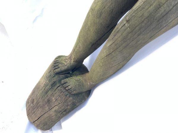 STRANGE ARM 1060mm DAYAK STATUE tribal effigy Figure Dyak Authentic