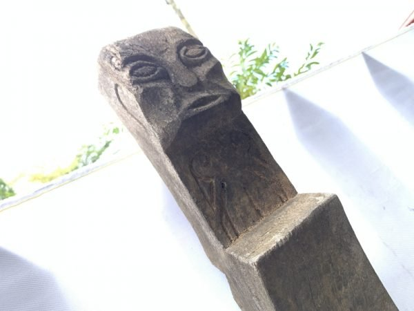 Asian 1550mm IRONWOOD LONGHOUSE STAIRCASE STAIRS Dayak Figure Statue Sculpture