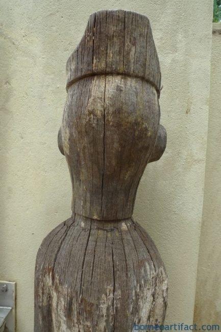 DAYAKKALTENGmmTRAPOKHATSTATUEErodedFigureSculptureArtIRONWOODWOOD