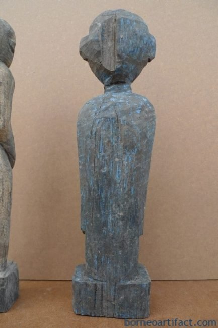 AUTHENTICDAYAKAGEDmmSCULPTURESTATUEDyakKebayanAntiqueFigureIRONWOOD