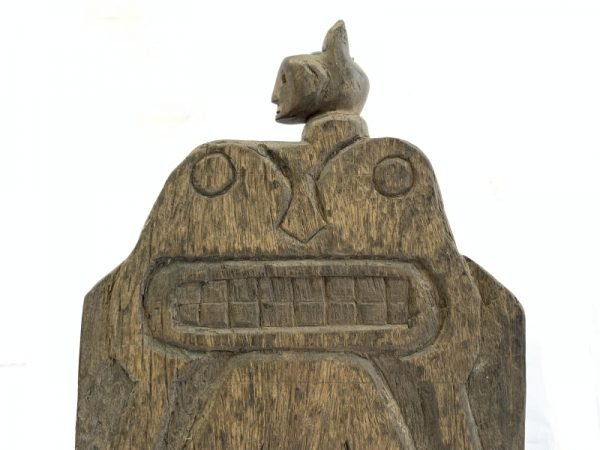SHAMAN BOOK KEEPER / Shelf Tribal Wall Panel Anthropomorphic Figure Statue Painting