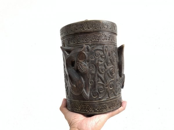 ASO NAGA RITUAL ANCESTRAL Cultural Container Lupong Medicine Box Chamber Ornament #4
