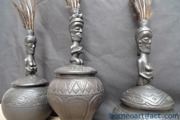 THREE MEDICINE CHAMBER Batak Simalungun Container Box Bottle Statue Sculpture