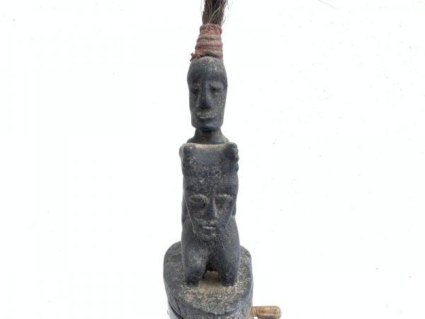 #3 LARGE BATAK CHAMBER 380mm HORN GANA-GANA Statue Sculpture Artifact Art Oceanian Container