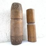 ONE PAIR 150mm BETEL NUT BAMBOO Powder CONTAINER Medicine Jewelry Jewel Box vintage deco