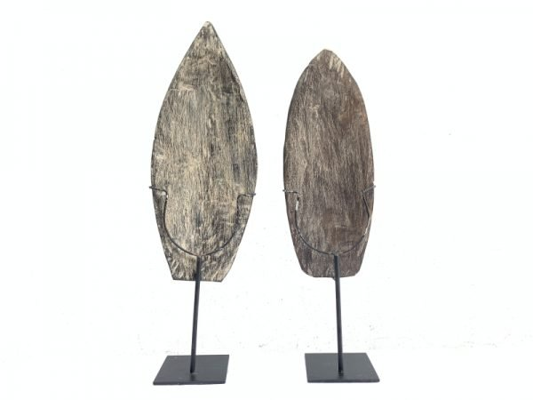 MALE and FEMALE 590mm NIAS NATIVE Indonesian MASK Sculpture Figure Statue Carving Asia Asian