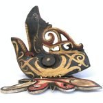 LONG NOSE Mask hudog 12.6″ x 16.5″ TRIBAL FACE ASIAN Facial Statue Painting Sculpture