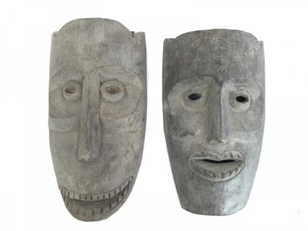Asian Mask 280x150mm ONE PAIR Topeng Wall Art Decoration Face Statue Painting