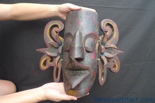 TRIBAL MASK Dayak Borneo Facial Face Wall Deco Home Bar Sculpture Statue Figure