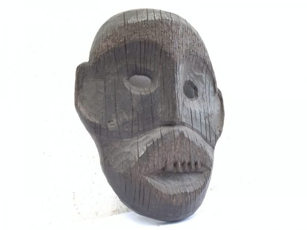 IRONWOOD DAYAK AHE 290mm Headhunter Mask Facial Face Dyak Native Tribal Artefact