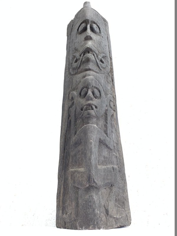 WALL GUARDIAN 620mm Tribal ALTAR Anthropomorphic Sculpture Statue Painting Borneo