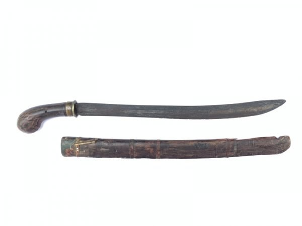 PEDANG SUMBAWA Antique Sword Golok Knife Parang Weapon Arms Lesser Sunda Bali