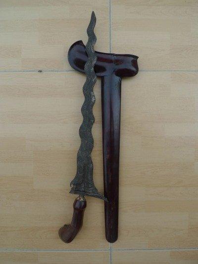 KERIS GANGGENG KANYUT / Floating Plant Knife Weapon Blade Dagger Sword Kris Asia