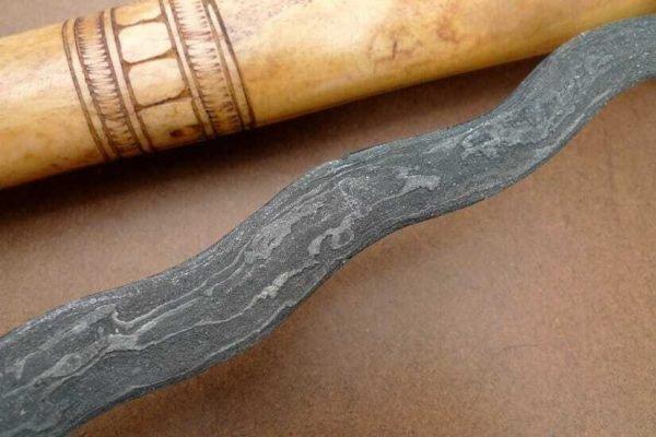 CATTLE BONE KERIS 11 LUK Knife Weapon Sword Kriss Kris Dagger Martial Art Blade
