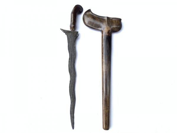 2.) KERIS PAMOR ADEQ 7 Luk (BLACK MAGIC PROTECTION) Knife Dagger Sword Kris Arms