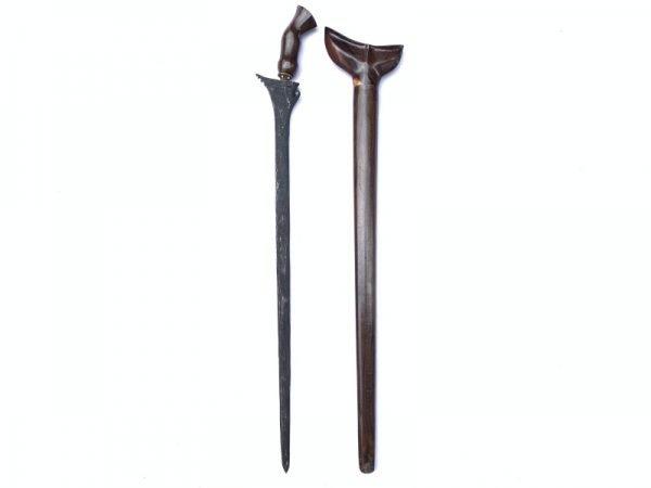 Long Keris (730mm) KERIS BULAN SABIT  Kris Lurus Knife Dagger Sword Arms Weapon Borneo Sumatra
