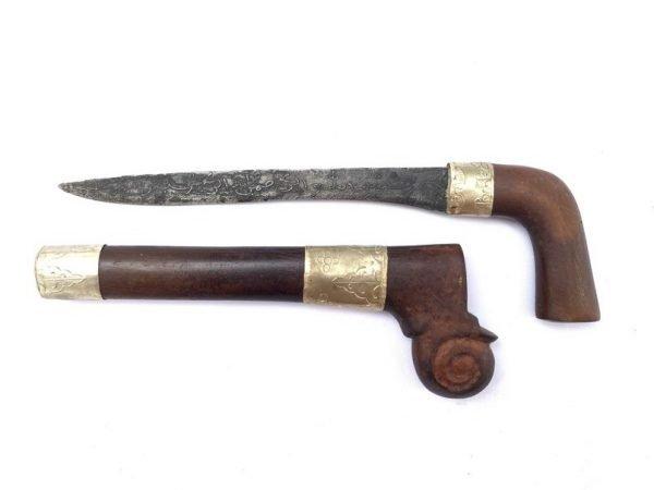 CEREMONIAL DAGGER 270mm BADIK Prayer Verse Holy Jawi Knife Kris Keris Weapon Blade