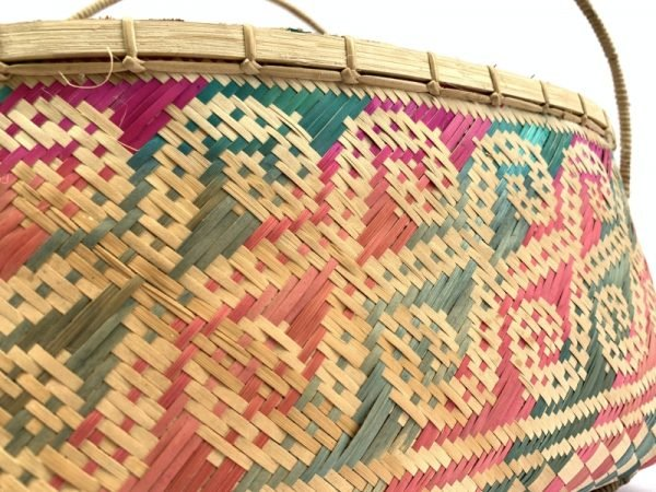 TRADITIONAL HANDBAG DAYAK BAG Weaving Woven Weave From Natural Rattan TREE SKIN
