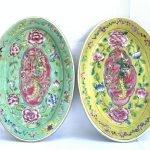 Phoenix baba nyonya singapore PLATE SERVING DISH Dining Food Wedding Ceramic Art