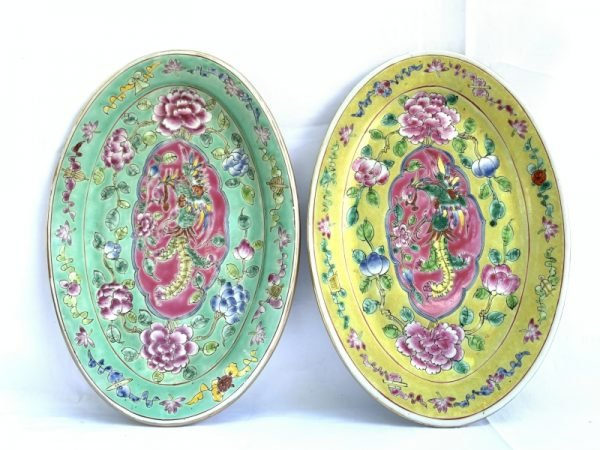 Phoenix baba nyonya singapore PLATE SERVING DISH Dining Food Wedding Ceramic Art
