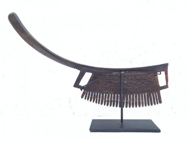 TRIBAL COMB 275mm BATAK KARO Sculpture Hair Jewelry Jewel Hair Accessories Art