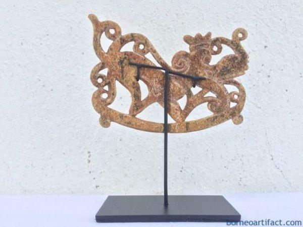 IBANICARTIFACTmmSTATUESculptureFigureTribalDayakHeadhunter
