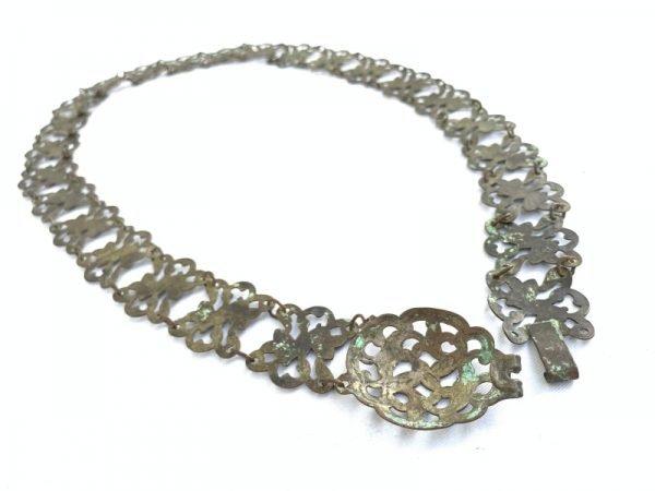 #3 ANTIQUE 130g PURE BRASS Jewellery COPPER BELT Authentic Artifact Malay Dayak Jewelry